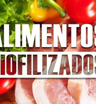 Ejemplos de alimentos liofilizados