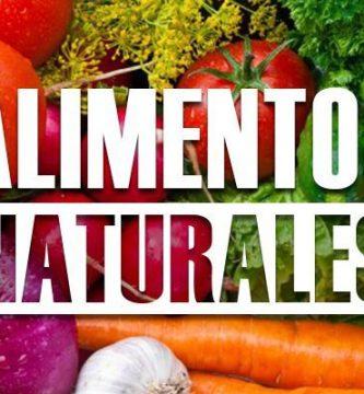 ejemplos de alimentos naturales