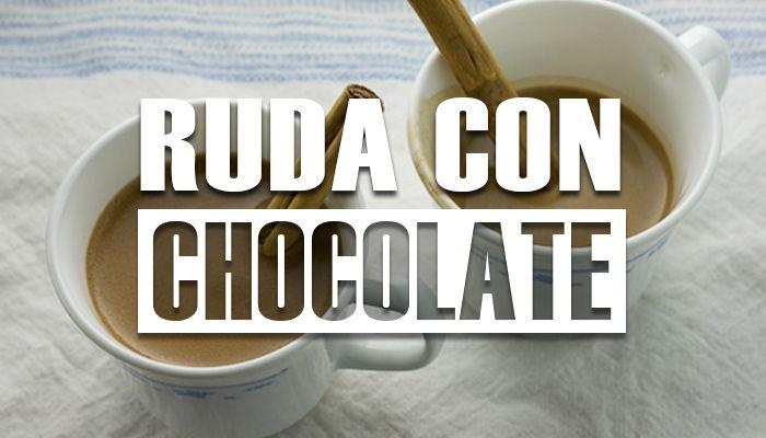para que sirve la ruda con chocolate